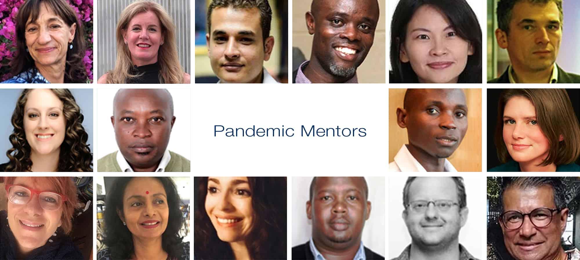 Photo montage of mentors faces