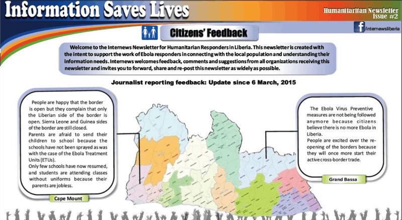 Newsletter: Information Saves Lives - Citizens' Feedback