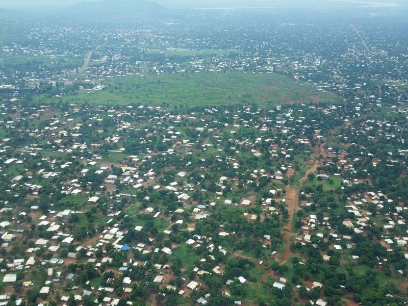 Aerial view of Bangui