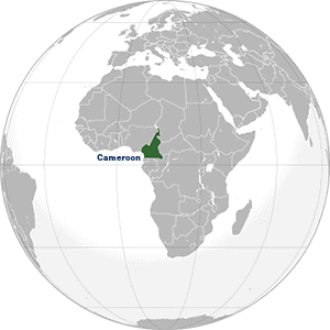 Map highlighting Cameroon