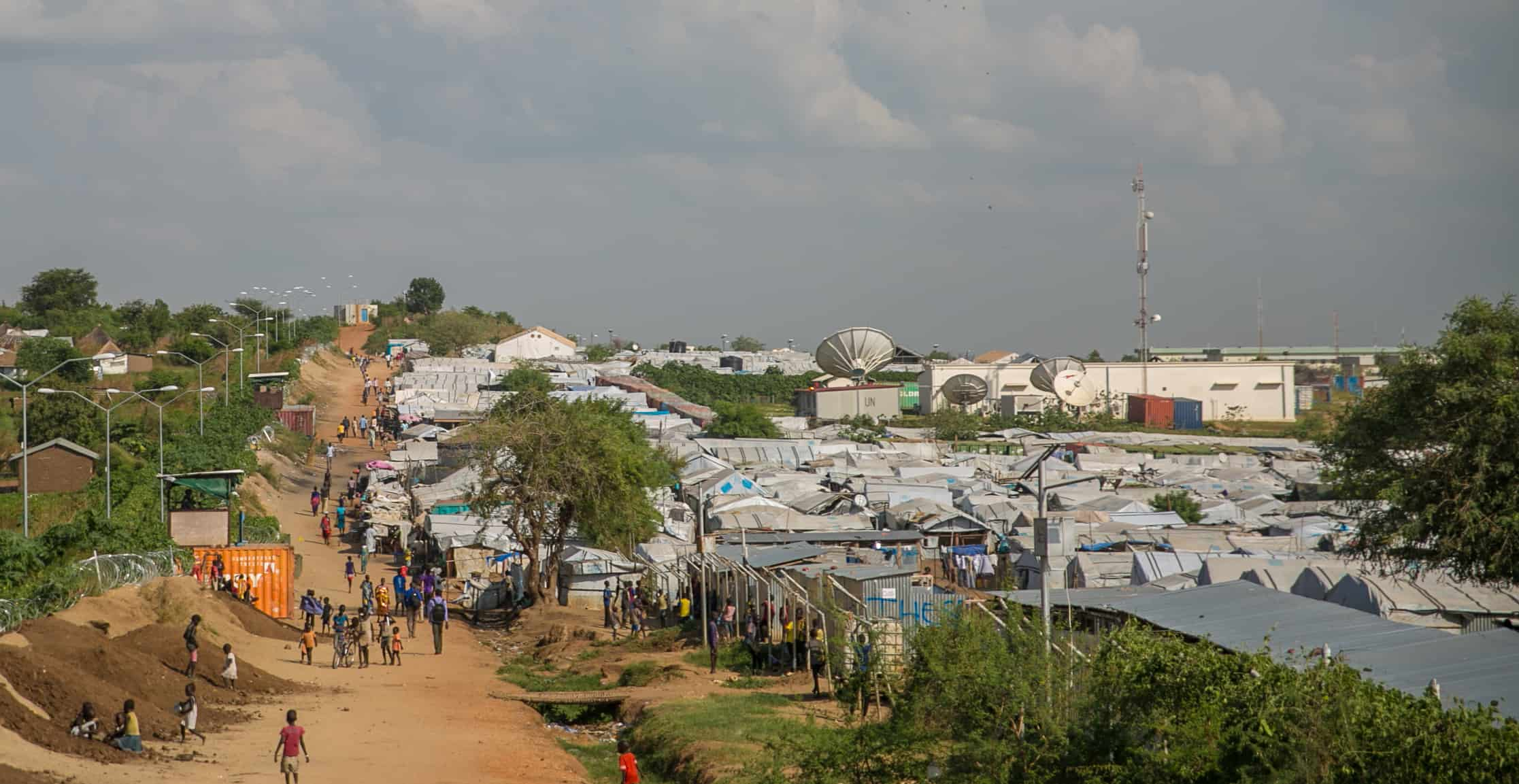 View of a refugee camp.