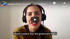 Screenshot from Isabela's video