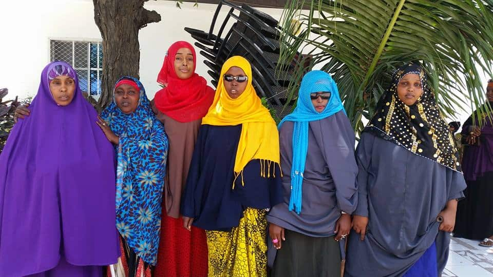 A group of disabled Somali women