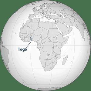 Map of Africa, highlighting Togo