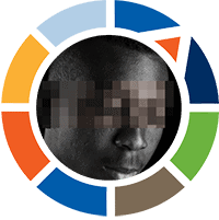 A circle of different colors frames a man's face