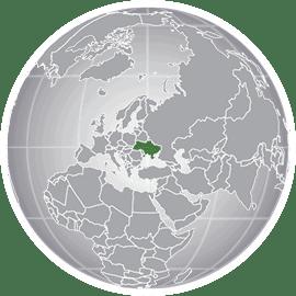 map highlighting Ukraine