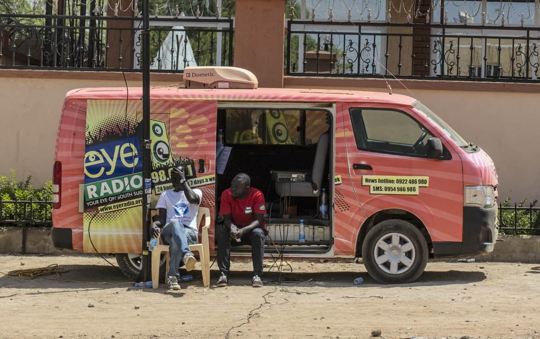 Eye Radio news van.