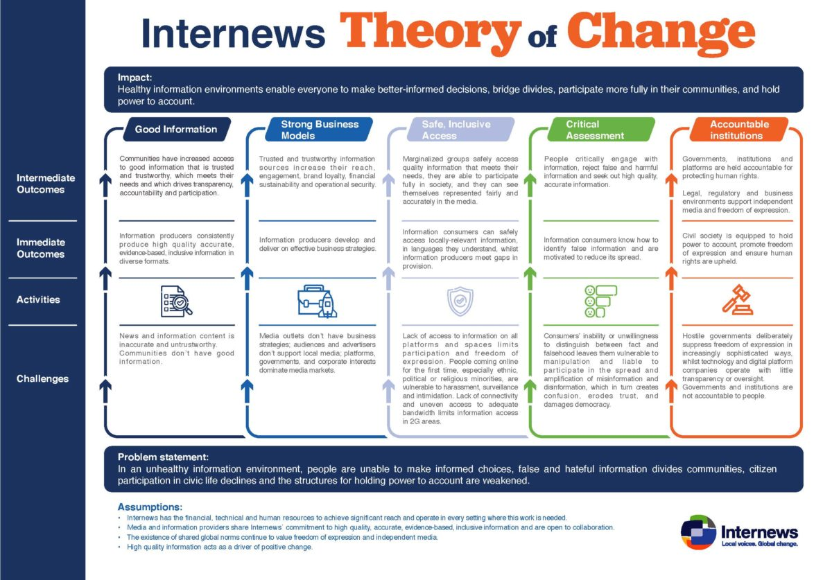 Infographic showing the theory of change