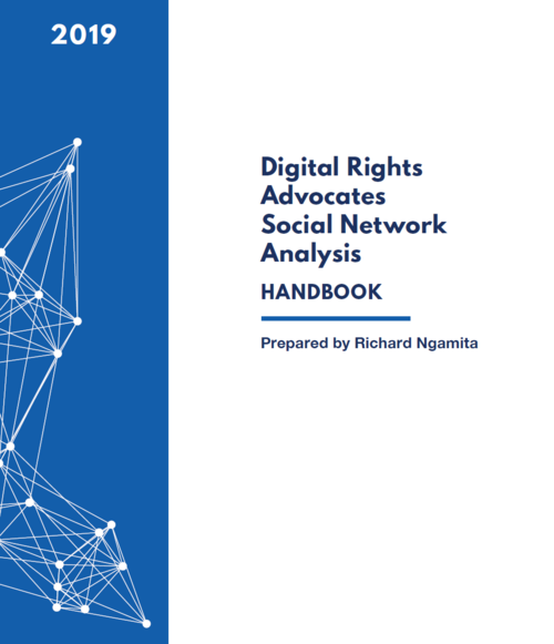 Report cover: Digital Rights Advocates Social Network Analysis.