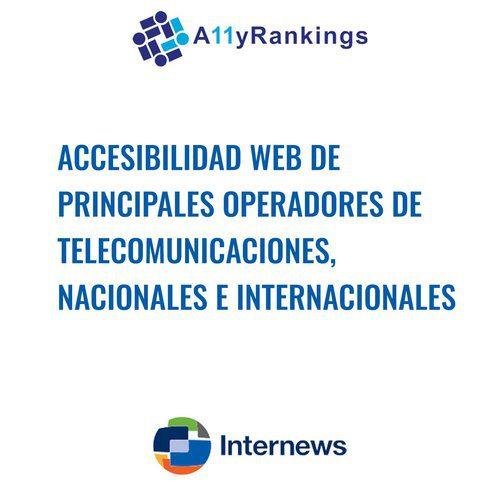 Accesibilidad Web de principales operadores de telecomunicaciones, nacionales e internacionales.