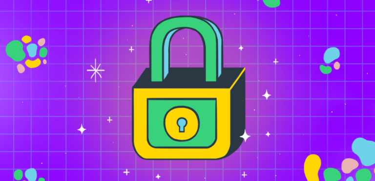 Graphic of a padlock.