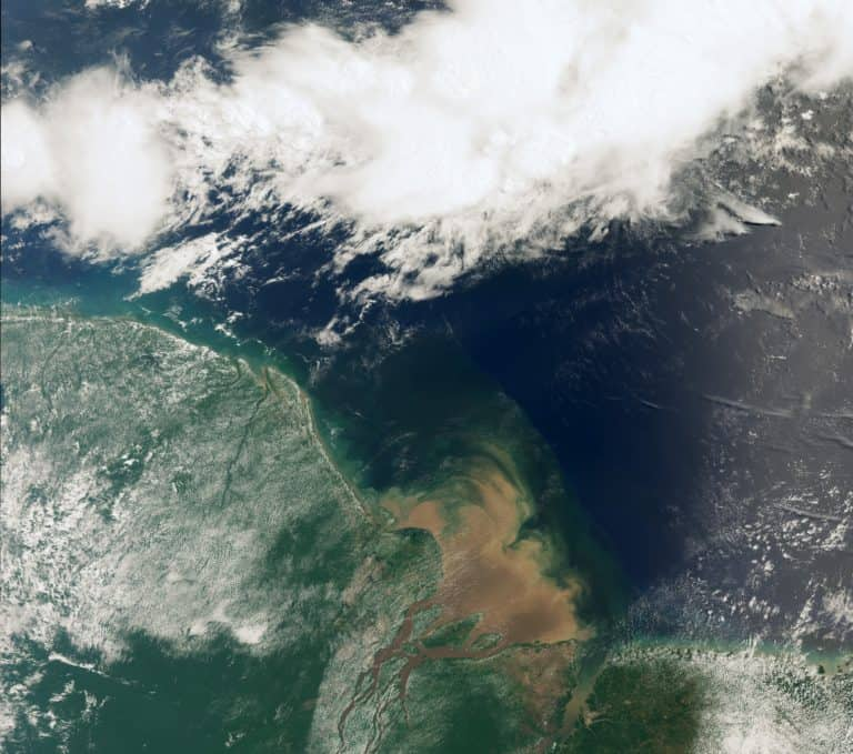 Satellite view of a river.