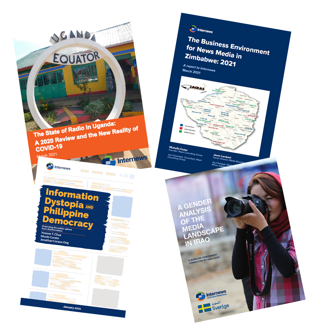 Covers of 4 reports
