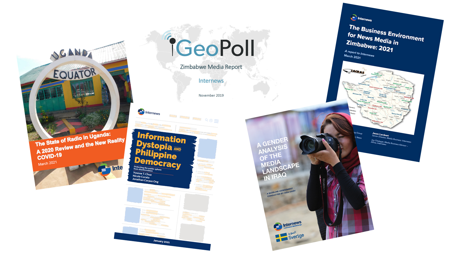 Covers of 5 reports