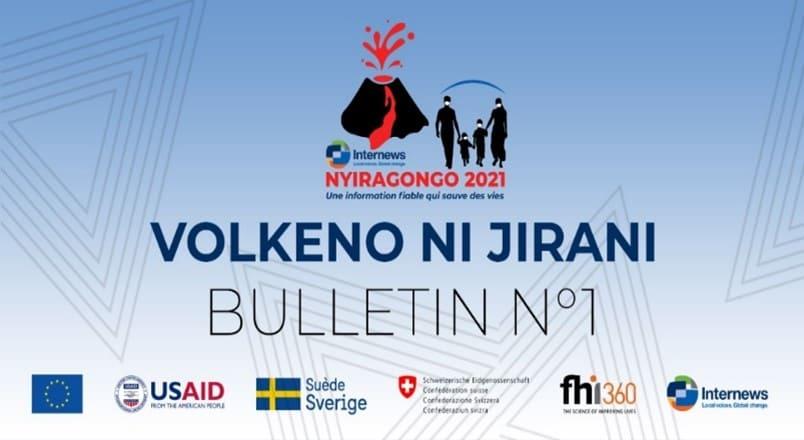 Logo from Volkeno ni Jirani Bulletin No. 1.