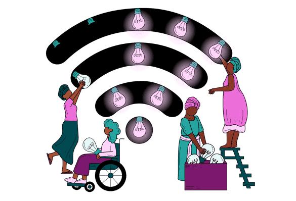 Four women repair a broken internet.