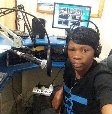 Suzan Moshy in the radio studio