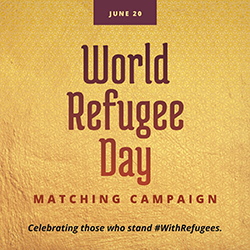June 20: World Refugee Day Matching Campaign - Celebrating those who stand #WithRefugees