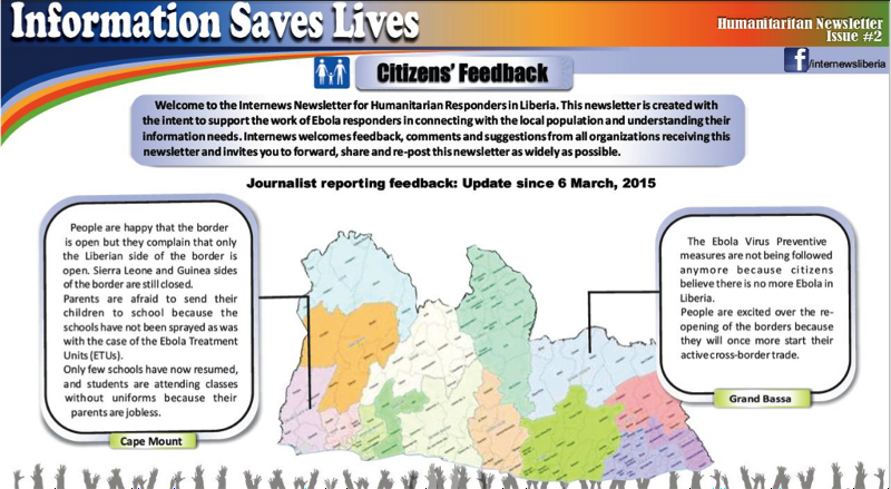Newsletter: Information Saves Lives - Citizens' Feedback