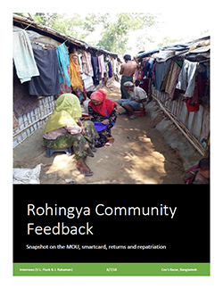 Cover: Rohingya Community Feedback