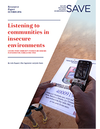 Cover: Listening to Communities in Insecure Environments