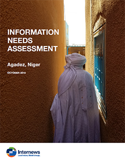 Cover: Information Needs Assessment: Agadez, Niger