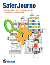 Cover: SaferJourno: Digital Security Resources for Media Trainers