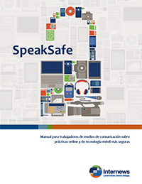 Cover: SpeakSafe - Media Workers' Toolkit (in Spanish)