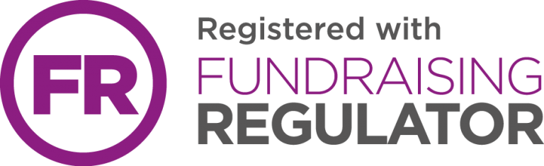 FR: Registered with Fundraising Regulator