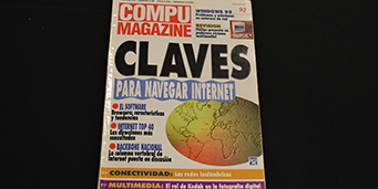 "Cover of Compu Magazine with the headline ""Para Navagar Internet"""