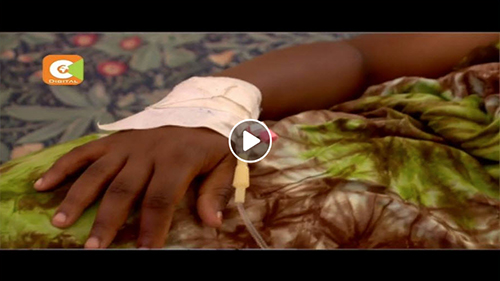 Screenshot from video - a hand with a bandage
