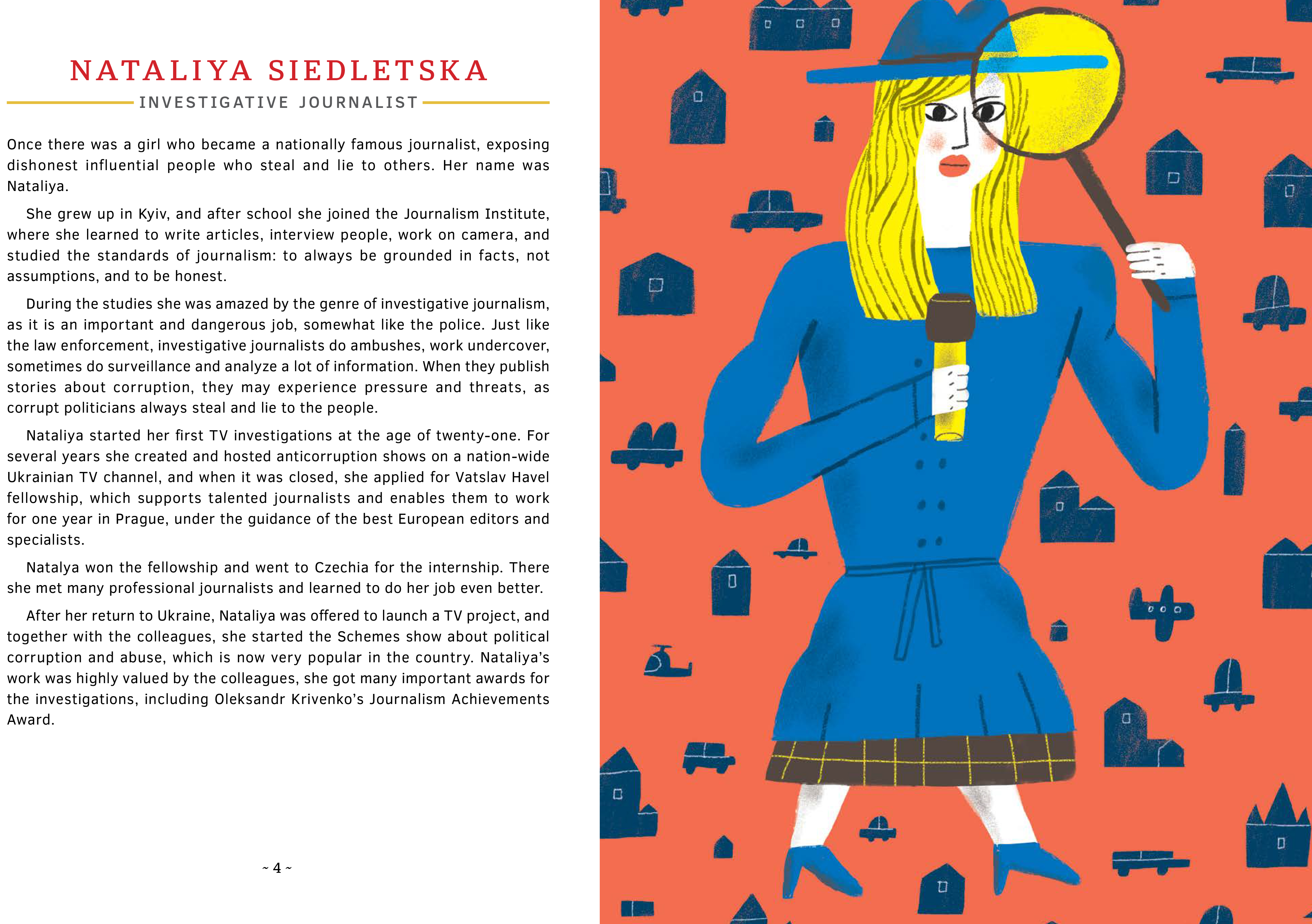 Text and illustration for Nataliya Siedletska