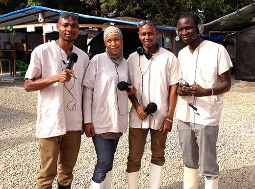 Mohamed Komah, Asmaou Diallo, Korka Bah, and Mamadou Kone, reporting from the Donka Ebola treatment center in Conakry.