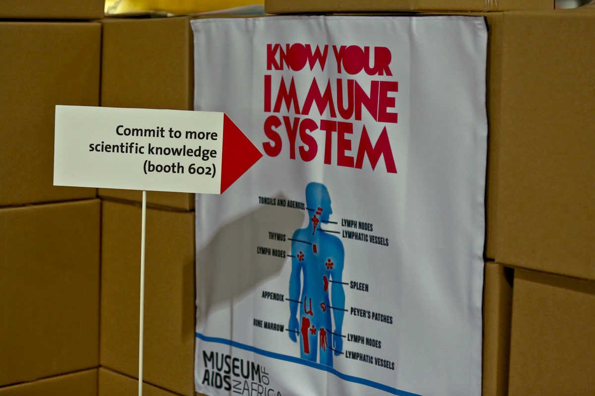 "A poster saying, ""Know Your Immune System"""