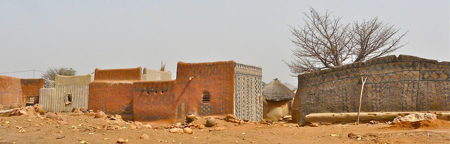 Mud houses in Burkina Faso