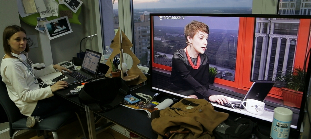 Inside the Hromadske studio
