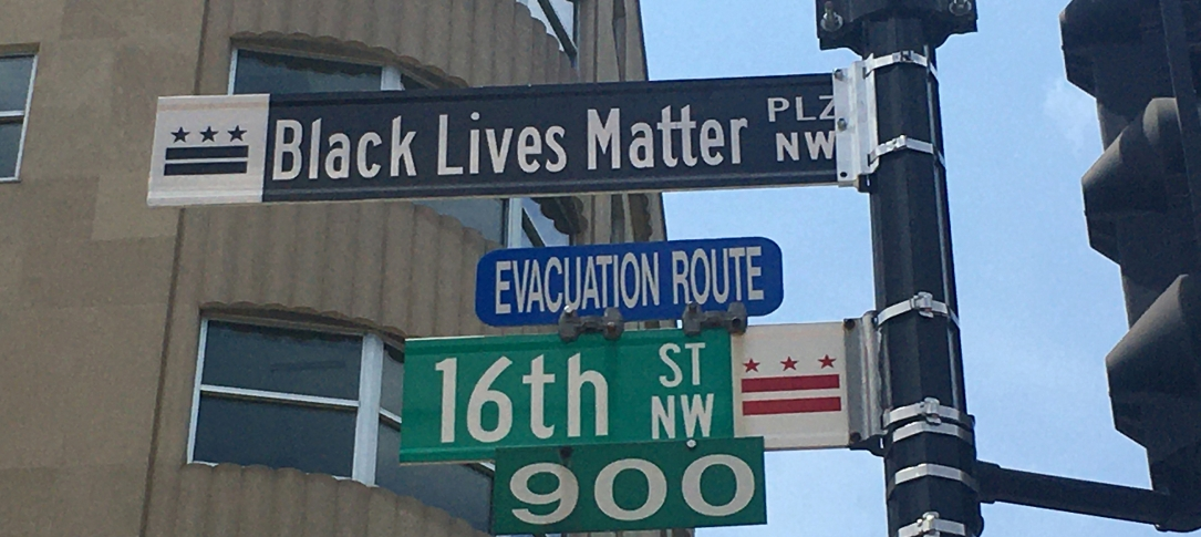 "Street signs in DC at the corner of 16th and I NW - ""Black Lives Matter Plaza"""