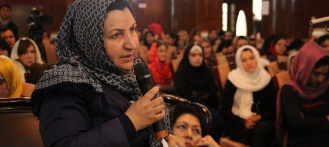 Media, and particularly women in media, have faced enormous challenges in Afghanistan. Pictured here, the first Afghan Women and Media Conference was held this year in March, providing a platform for women in the media to take up issues such as professional capacity and safety and security, and discuss ways to address them.
