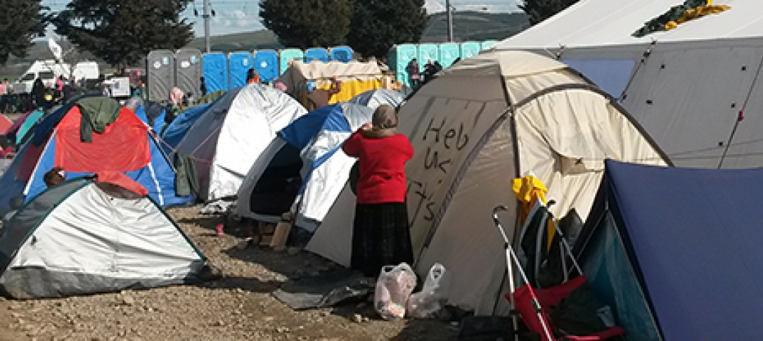 Tents housing refugees