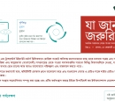 Screenshot of Bengali version of newsletter