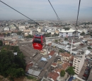 Skywat Cable car with houses below