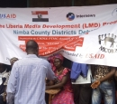 A banner of the Internews Liberia project.