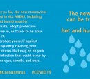 Infographic from WHO showing that COVID-19 can be transmitted in hot weather