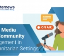 Graphic of the guide cover - Local media and community engagement