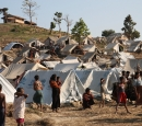 A refugee camp in Myanmar