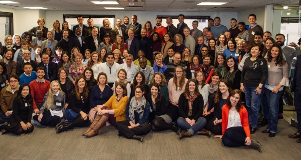 Group shot of Internews staff