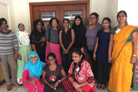 A group of Sri Lankan women in tech
