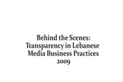 Cover: Behind the Scenes: Lebanese Media Business Practices