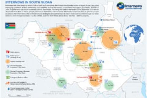 Map: Internews in South Sudan | Internews
