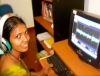Kalaivani Saravani at the computer